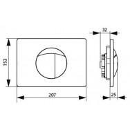 Кнопка слива для инсталляций Sanit S701