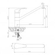Смеситель для кухни АVILA 02430AV