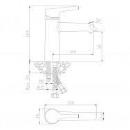 Смеситель для раковины ALBA 15100AL