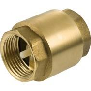 Клапан обратный латунный пружинный