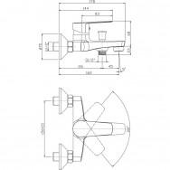 Смеситель ZOLLEN BERGEN BE61610141 для ванны короткий изл.