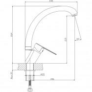Смеситель ZOLLEN BERGEN (арт. BE71610132) д/кухни излив УТКА, кар.35мм