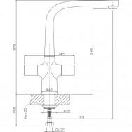Смеситель ZOLLEN HEIDE (арт. HE74620732) д/кухни высокий-поворотный излив,гайка