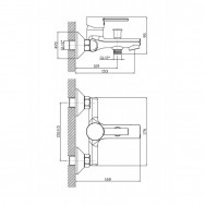 Смеситель ZOLLEN GERA GE61611341 для ванны короткий изл.