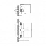 Смеситель ZOLLEN GERA (арт. GE31611341) для душа с аксессуарами.,карт.35мм