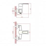 Смеситель ZOLLEN SIEGEN (арт. SI31411641) для душа с аксессуарами, карт.40мм