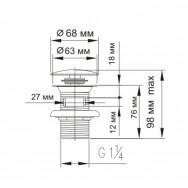 Донный клапан ZOLLEN SP90001 с системой клик-клак