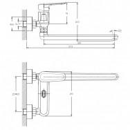 Смеситель ZOLLEN ULM new (арт.UL62613641) для ванны, дл.излив 300мм, карт.35 мм