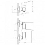 Смеситель ZOLLEN REGEN (арт. RE11613941) для душа с аксессуарами, карт. 35 мм