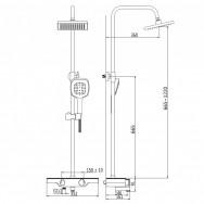 Душевая система ZOLLEN HEGEN (арт.HE316147415) пов.излив,верх и ручной душ