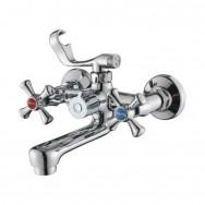 Смеситель ZOLLEN ROSTOCK (арт. RO61421041) для ванны,короткий.излив 150,с аксес.